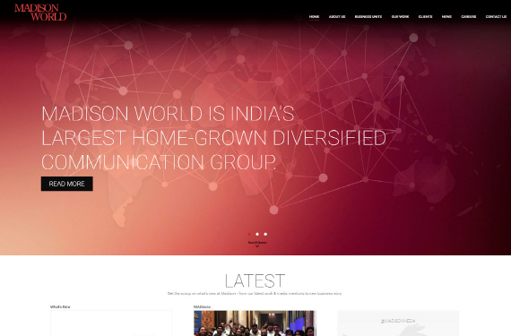 Website Design for www.madisonindia.com
