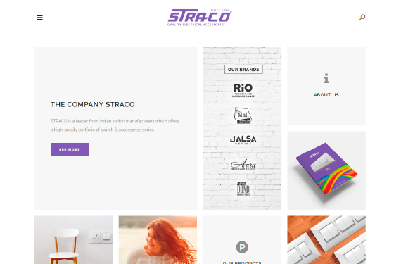 Website Design for www.straco.co.in